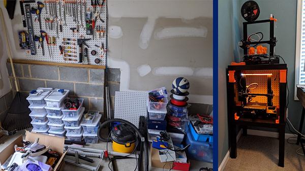 supplies in garage